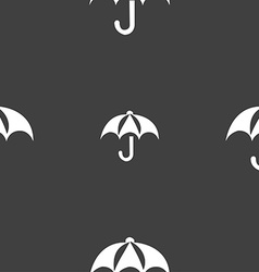 Umbrella icon sign Seamless pattern on a gray vector image