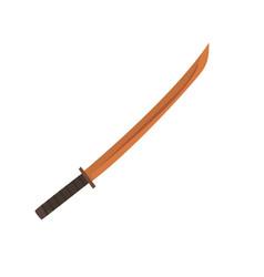 wooden japanese fencing sword kendo equipment vector image