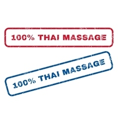 100 Percent Thai Massage Rubber Stamps vector image vector image