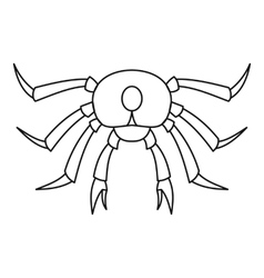 Seafood crab icon outline style vector