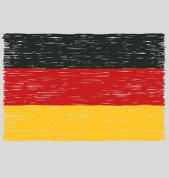 Hand drawn german flag vector