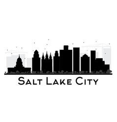 salt lake city city skyline black and white vector image