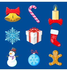Set-of-christmas-decorations vector