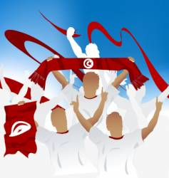 Tunisian crowd vector