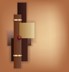 Chocolate art deco geometric background vector