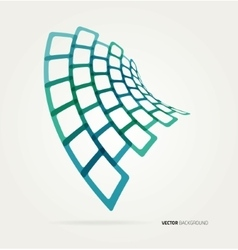 Abstract wave shapes template vector