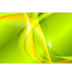 Bright green yellow waves design vector