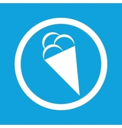 Ice cream sign icon vector