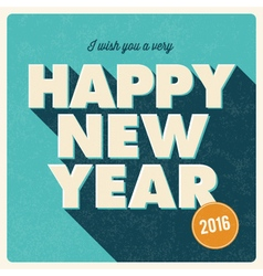 Happy new year 2016 card retro title vector