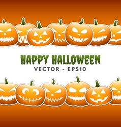 Halloween pumpkin lanterns vector