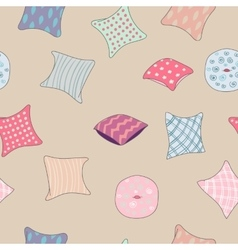 Colored pillows cushions pattern vector