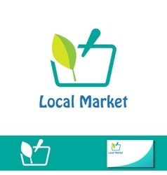Local market symbol basket sign vector