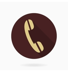 Fine telephone receiver flat icon vector
