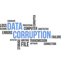 Word cloud data corruption vector