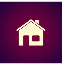 Home icon flat design style vector