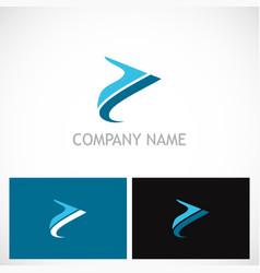 abstract arrow colored company logo vector image vector image