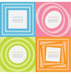 Abstract background set Optical of the movement vector image vector image