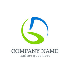 abstract letter g company logo vector image