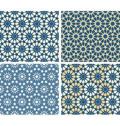 Arabic patterns set vector