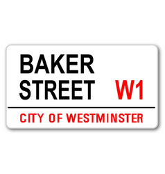 baker street vector image vector image