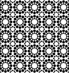 Black white seamless circle pattern design vector image vector image