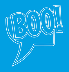 Boo comic text sound effect icon outline style vector