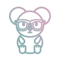 cartoon koala with glasses vector image
