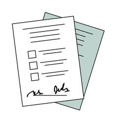 Checklist form sheet vector
