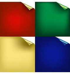 Color Backgrounds With Corners vector image