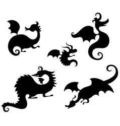 Dragon set vector