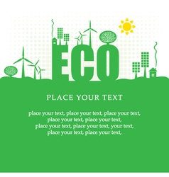 eco banner vector image vector image