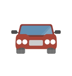 Flat design simple car vector