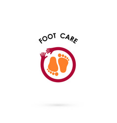 Foot care logohuman foot iconfoot spa concept vector