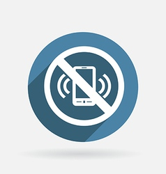 forbidden to use mobile phone Circle blue icon vector image