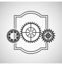 gear wheels design vector image