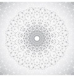 Geometric abstract lattice with connected line and vector image