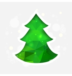 Geometric mosaic christmas tree vector