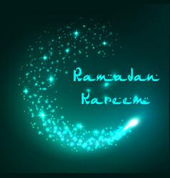 greeting card ramadan kareem islam holiday vector image