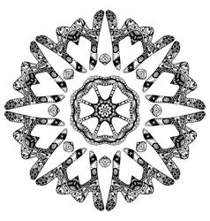 Handdrawn round pattern vector