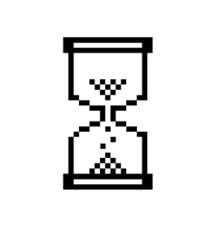 Hourglass pixelated icon image vector