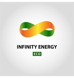 Infinity energy logo eco energy vector
