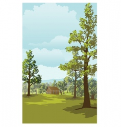 log cabin vector image