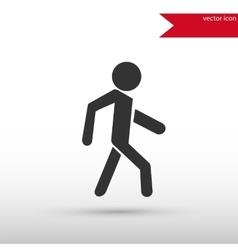 Man icon pedestrian symbol vector