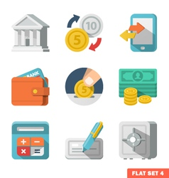 Money flat icon set vector