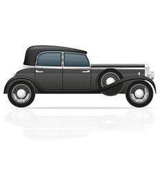 old retro car 02 vector image vector image