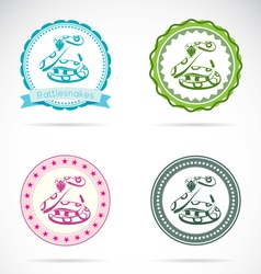 Rattlesnakes labels vector