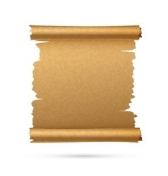 Realistic vertical paper ancient scroll vector image vector image