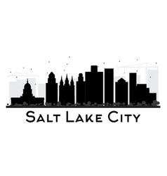 Salt lake city city skyline black and white vector