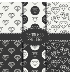 Set of monochrome hipster fashion geometri vector image vector image
