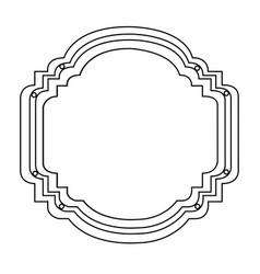 Silhouette elegant heraldic decorative frame vector